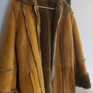 VINTAGE Italian 70s shearling teddy cozy fur coat